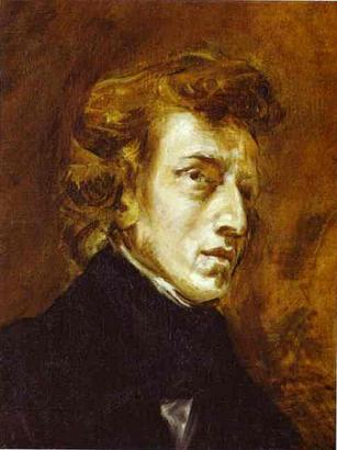 Frédéric Chopin (1810–1849) in the famous 1838 portrait by Eugène Delacroix (1798-1863)