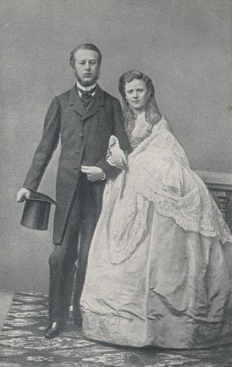 Lev Davydov (1837–1896) with his wife Aleksandra (b. Tchaikovskaia, 1842–1891)
