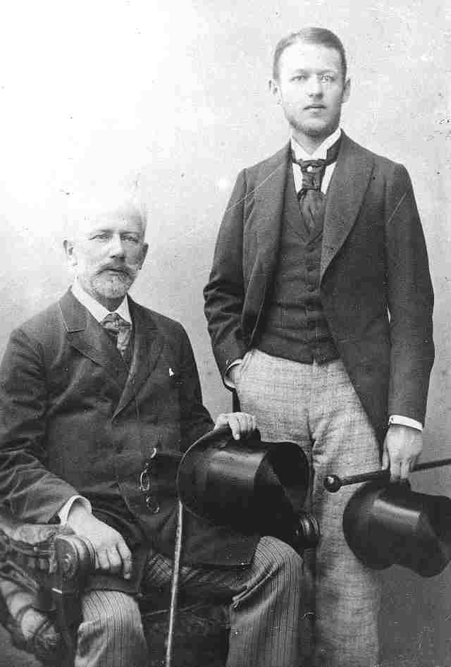 Vladimir Davydov (1871–1906) with Tchaikovsky in 1893