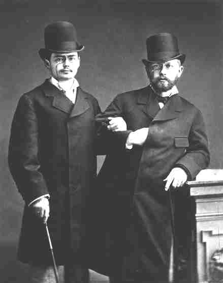 Iosif Kotek (1855-1885) with Tchaikovsky (right) pictured in 1877